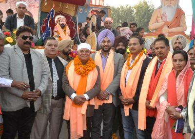 MLAs MP with DC and CP join Shobha Yatra to mark Prakash Purab of Shri Guru Ravi Dass ji