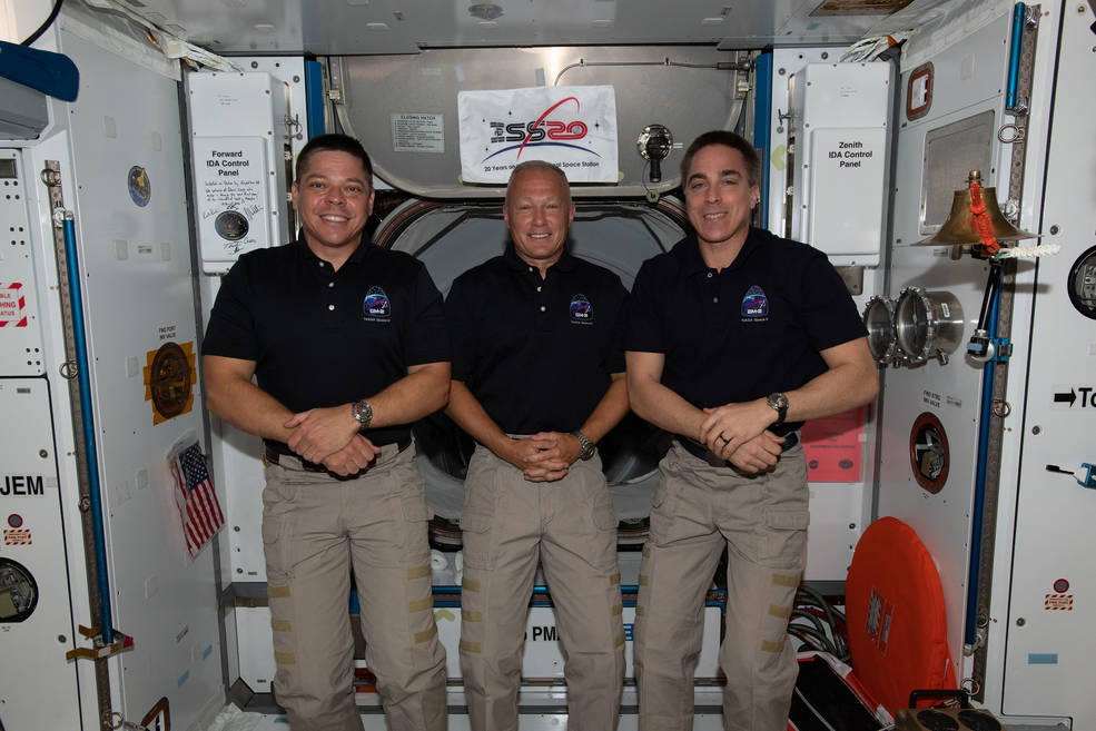 NASA Astronauts in Space to Discuss Upcoming SpaceX Crew Dragon Return