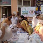 पूर्व मंत्री कविता जैन ने सद्गुरूधाम दिव्य गीता कुटी में जरूरतमंदों को किया राशन वितरीत