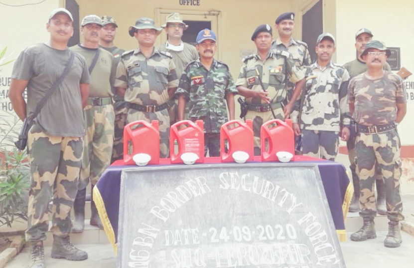BSF seazes 4 Canisters filled 13 Kg Heroin from Ferozpur Sector