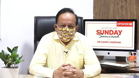 Dr. Harsh Vardhan interacts with his Social Mediafollowers through 'Sunday Samvad'
