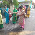Lok Saanjhedari MC Teams sensitize people on wearing Masks