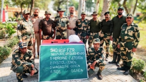 BSF seizes heroin, arms and ammunition from near Indo-Pak Punjab border