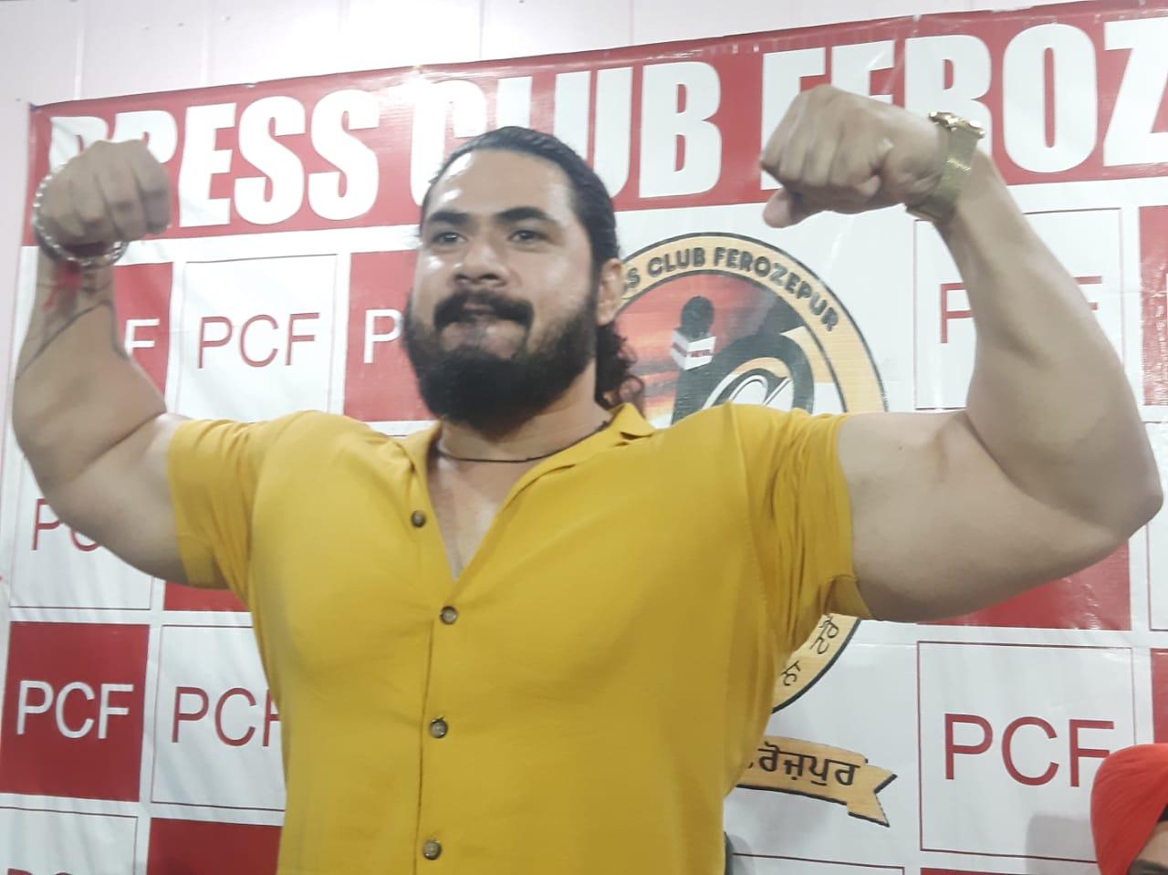 Warm welcome for World famous wrestler Mahabali Shera