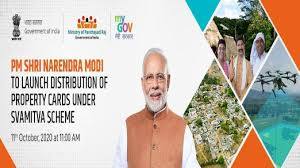 PMNarendra Modi will launch physical distribution of Property Cards today