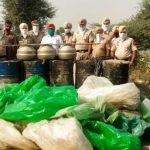 Excise and Police teams recovere 40,000 ltr 'lahan'