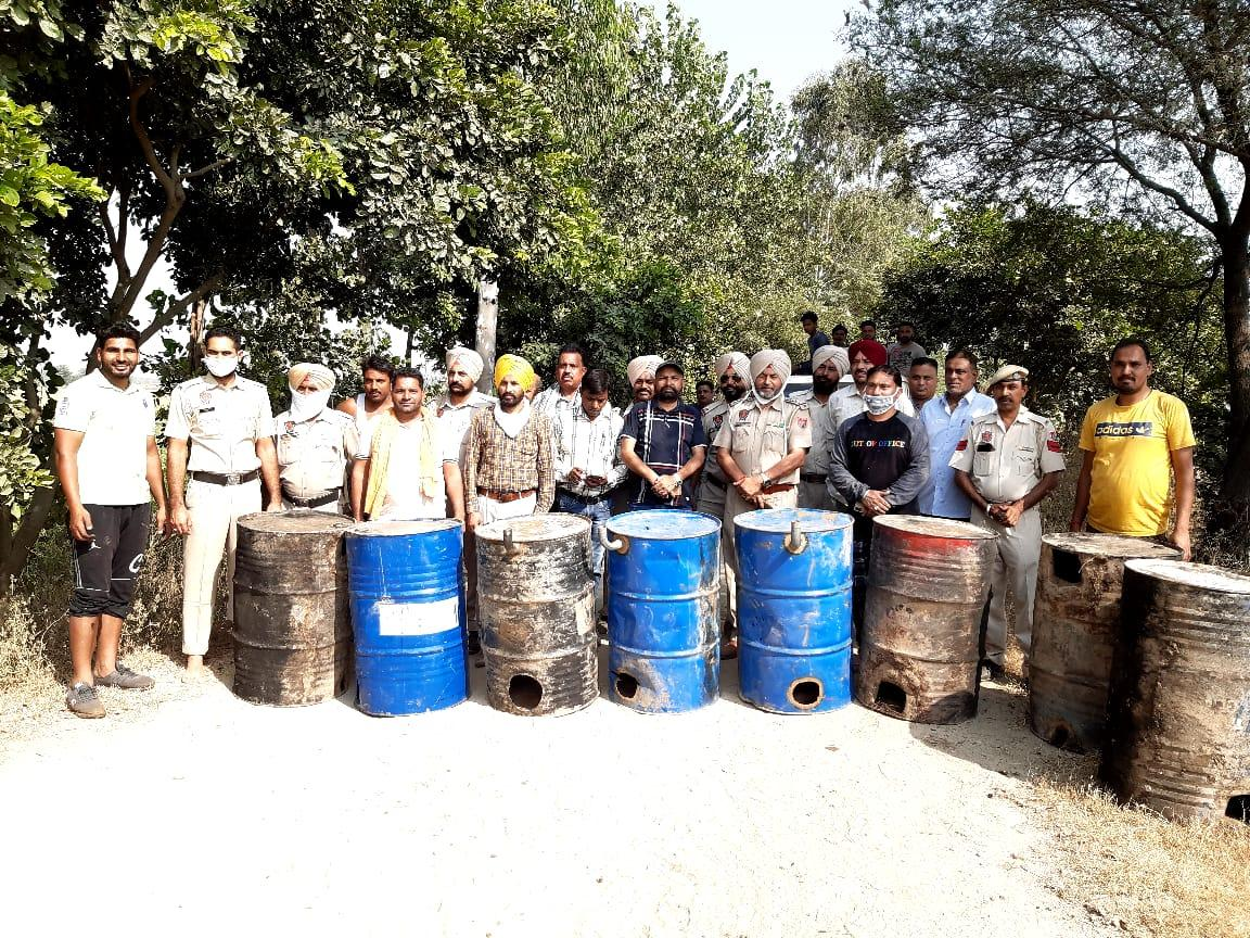 Joint Excise and Police destroy 18000-Kg Lahan