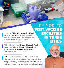 PM reviews vaccine development and manufacturing process at 3 facilities