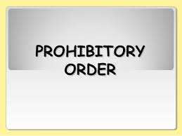 Additional Distt Magistrate issues various Prohibitory Orders