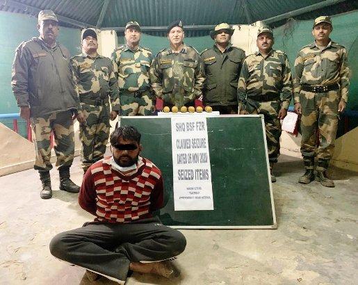 BSF nabs one person, seizes 8 kg heroin, pistol near Punjab Border