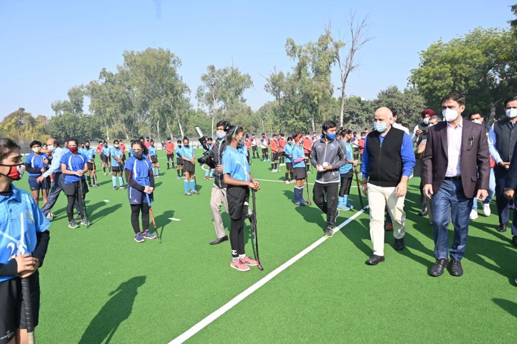 Delhi Dy CM Manish Sisodia inaugurated world-class hockey astro turf