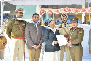 Lt. Sonia Mahindru, ANO NCC of HMV honoured on 72nd  Republic Day