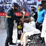 महेंद्रगढ़ जिला में पहुंची स्वर्णिम विजय वर्ष मशाल यात्रा