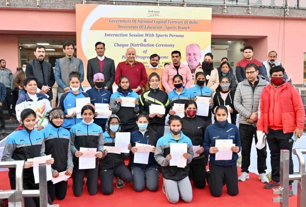 Dy CM Sisodia distributes Rs 7.48 crore to 307 sportspersons financial assistance