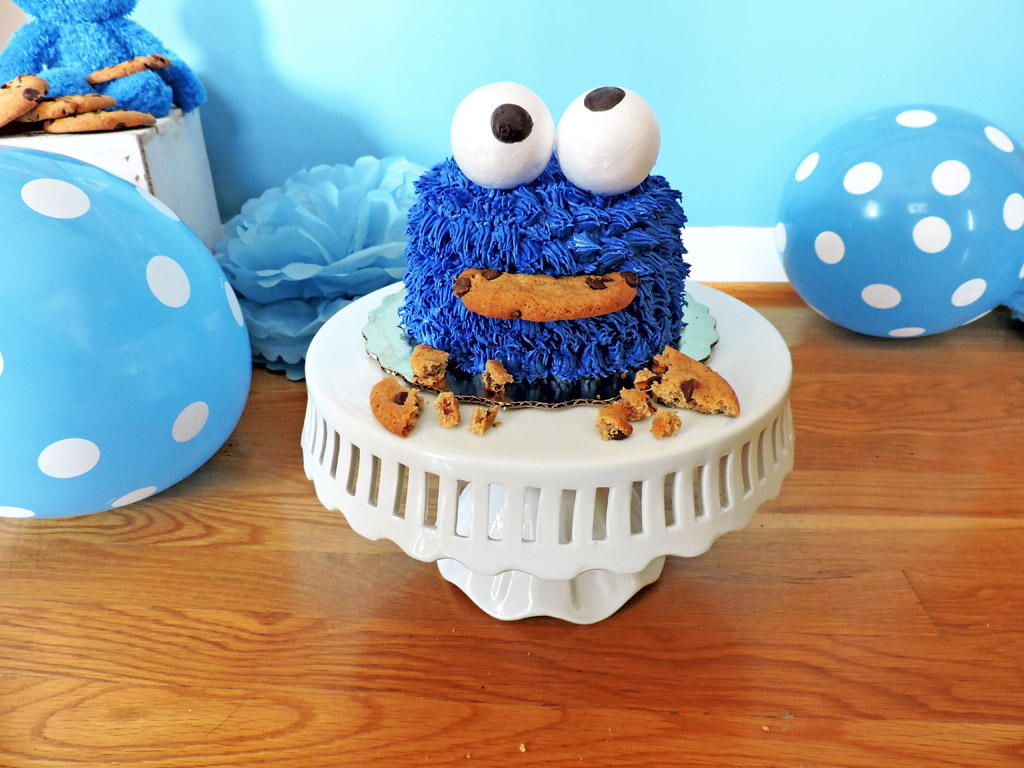 DIY Cookie Monster Smash Cake