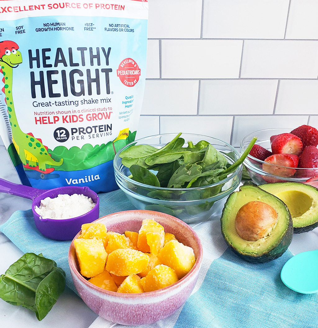 Tuttti-Fruity Veggie Smoothie made with Healthy Height, just for kids and toddlers