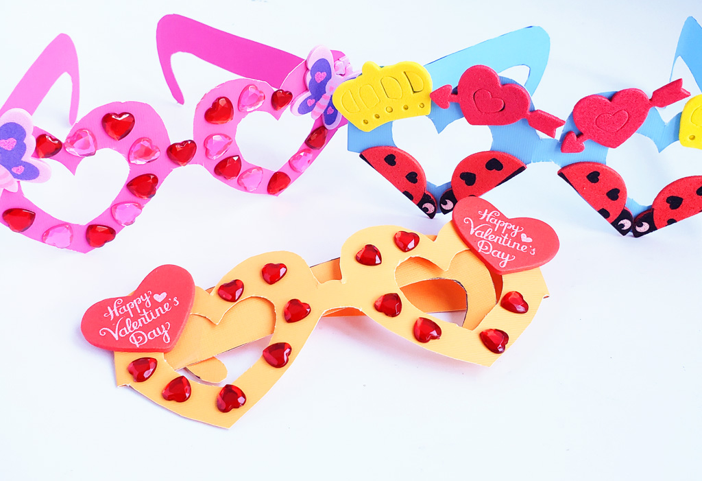 Cute Valentine's Day Heart Glasses