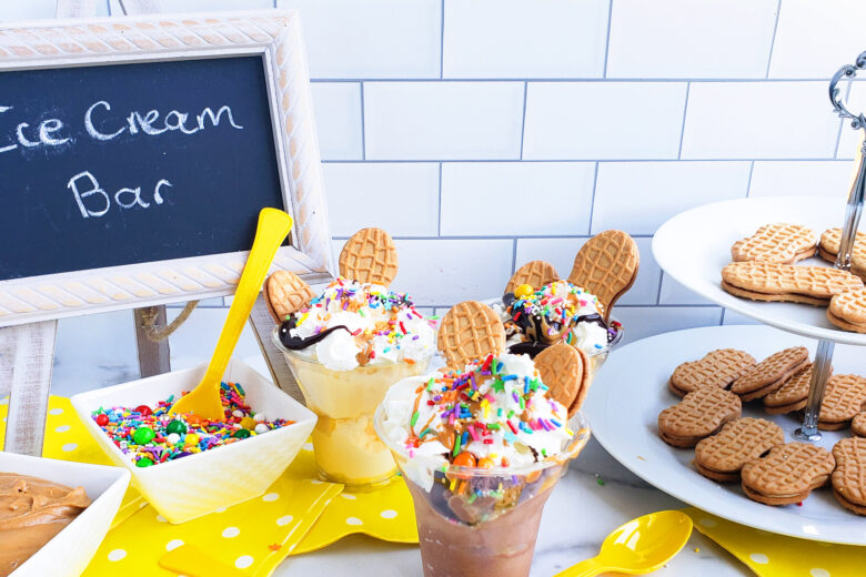 DIY Peanut Butter Cookie Ice Cream Sundae Bar