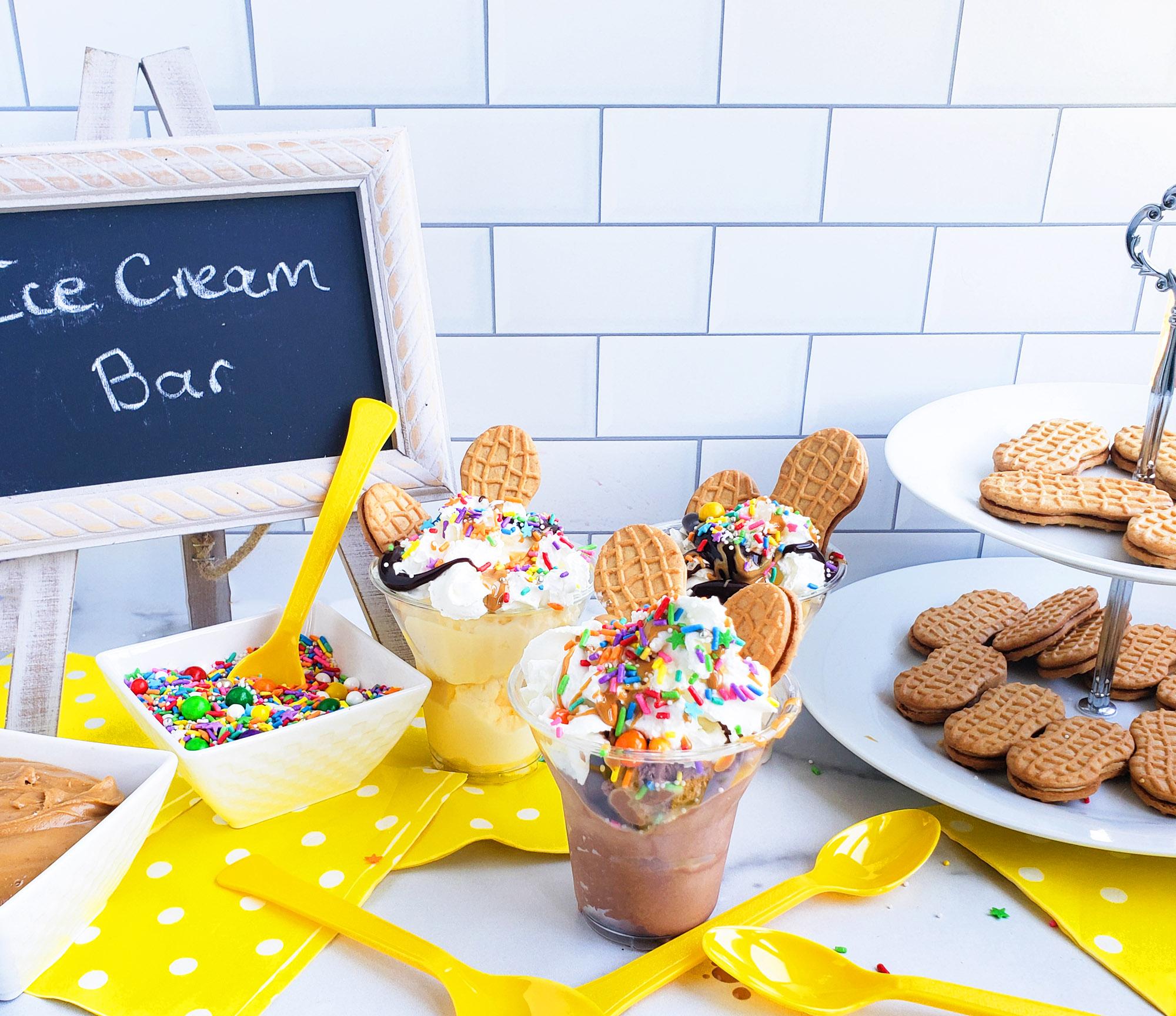 DIY Peanut Butter Cookie Ice Cream Sundae Bar