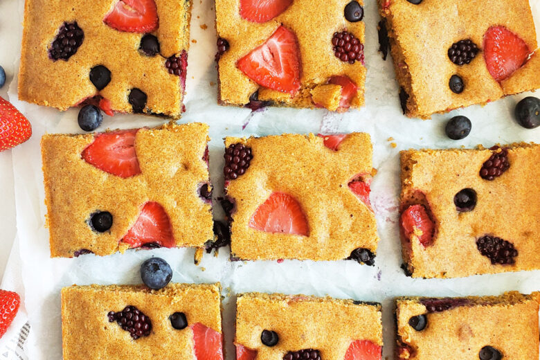 Very Berry Sheet Pan Pancakes