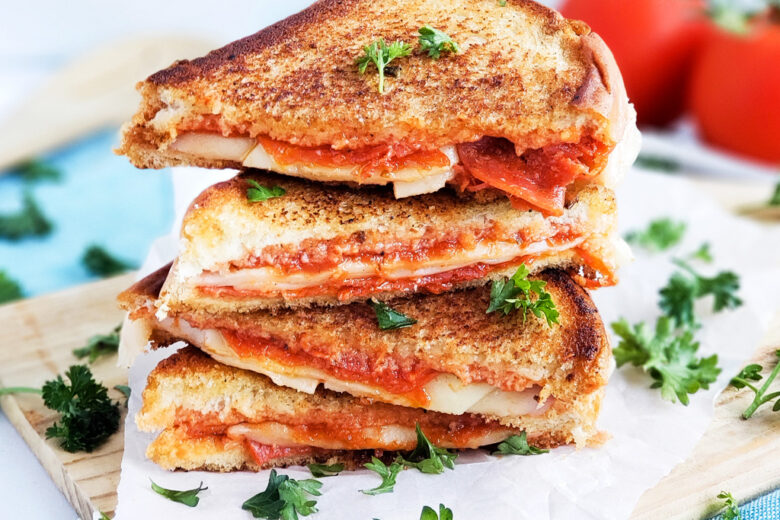 prego pizza grilled cheese sandwich