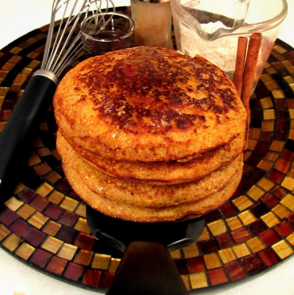 Pumpkin & Maple Bacon Infused Pancakes