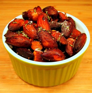 Sauteed Sea Salt & Rosemary Almonds