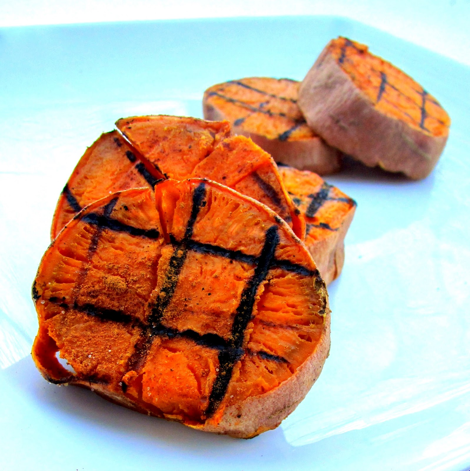 Roasted & GRILLED Sweet Potatoes w HOT as $h!% Habanero Sauce