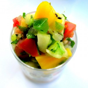 GRILLED Mango & Mint-Apple Salsa