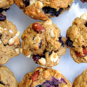 White Chocolate & Blueberry TrailMIX Cookies