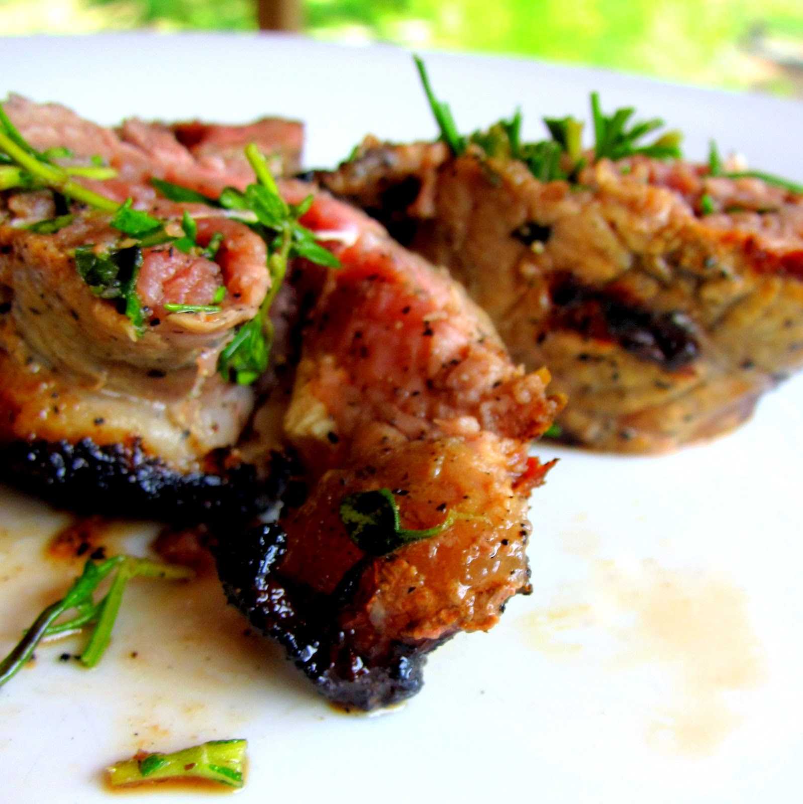 Grilled STRIP & Rosemary Medallions