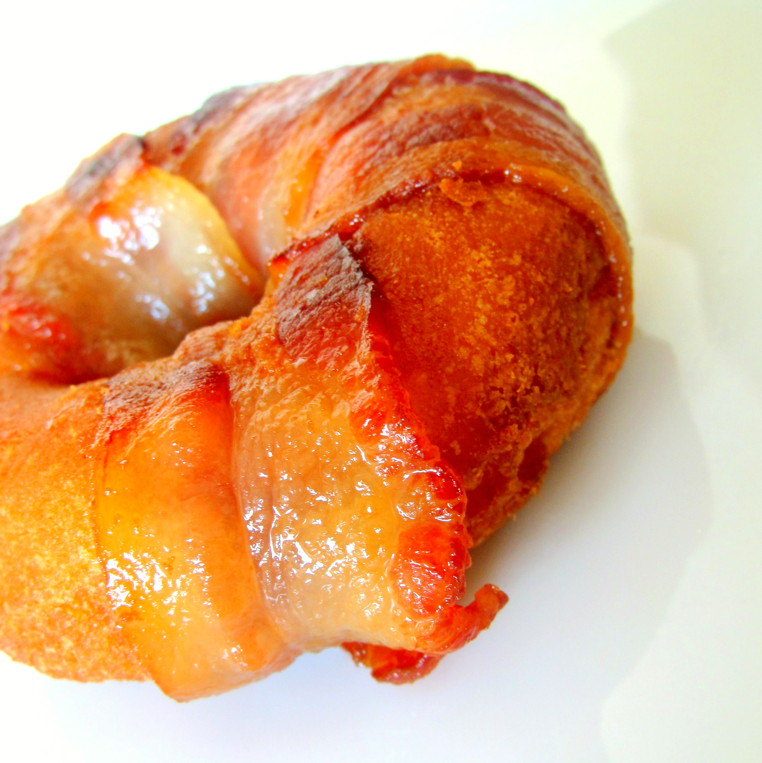 BAKED BACON-WRAPPED DOUGHNUT - Heaven in Your Hand!
