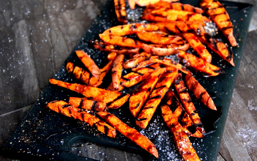 Grilled Cinnamon & Cayenne Sweet Potato Fries