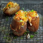 Twice Grilled and Loaded Russet Potatoes