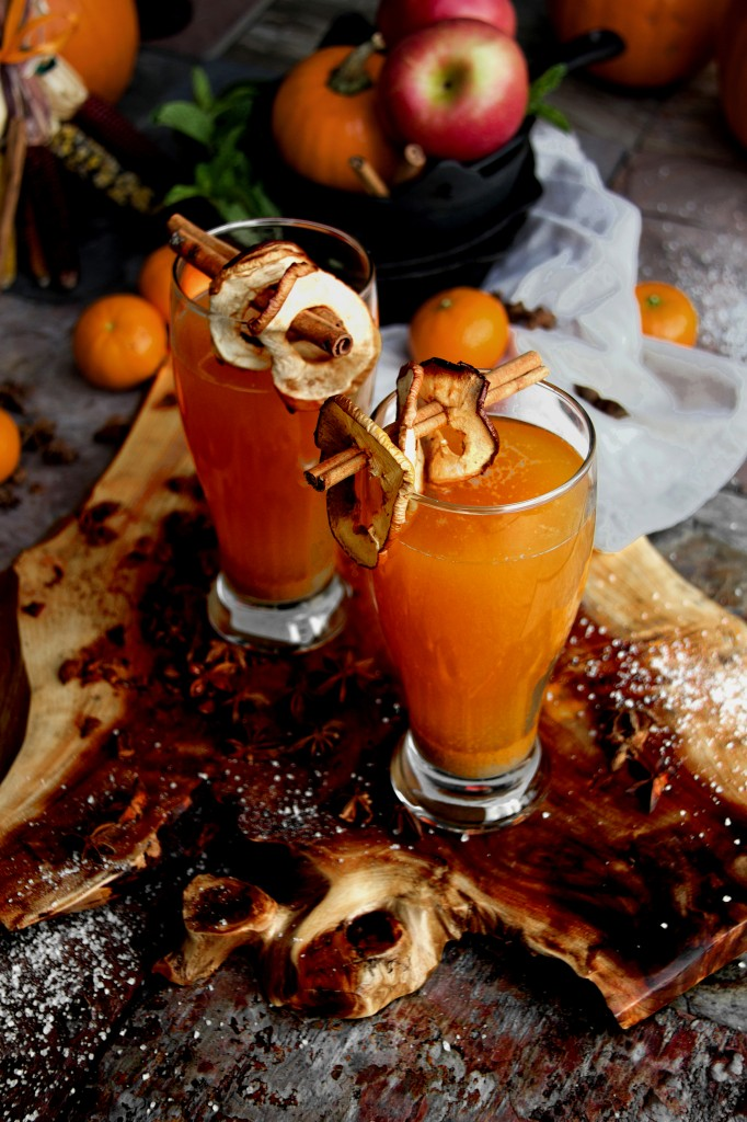 Rustic Orchard Mulled Apple-Ginger Cider