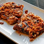 Grilled and Glazed Maple-Bourbon Pork Chops