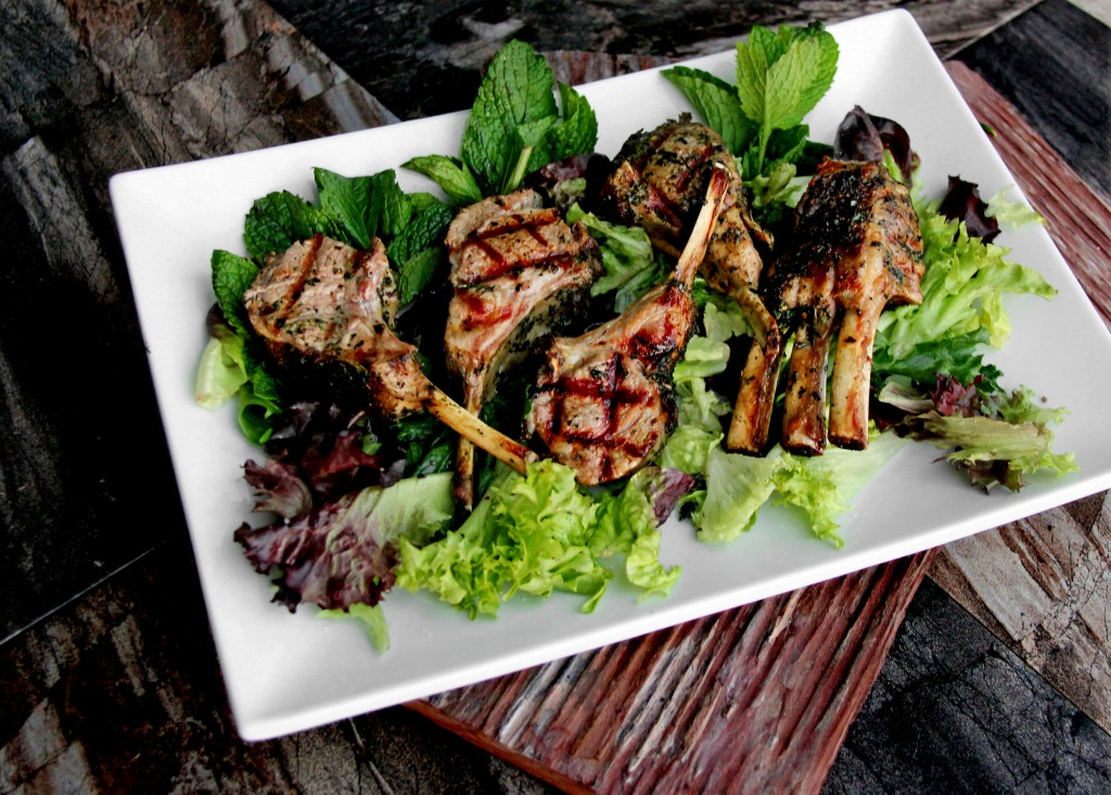 Seared Rosemary-Mint Lamb Chops