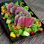 Sesame Encrusted and Seared Ahi Tuna