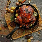 Balsamic-Fig Barbeque Cornish Game Hen
