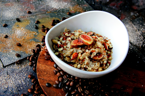Breakfast Like A Boss - Maple-Fig Wheat Berry Oatmeal