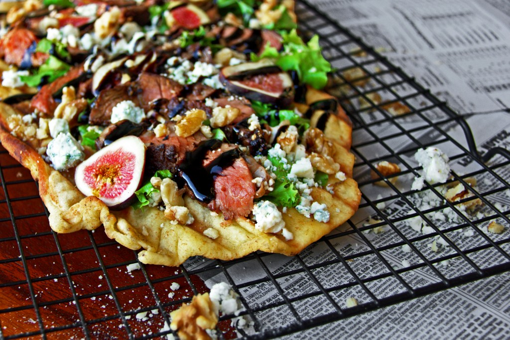 Black Mission and Mignon Grilled Flatbread