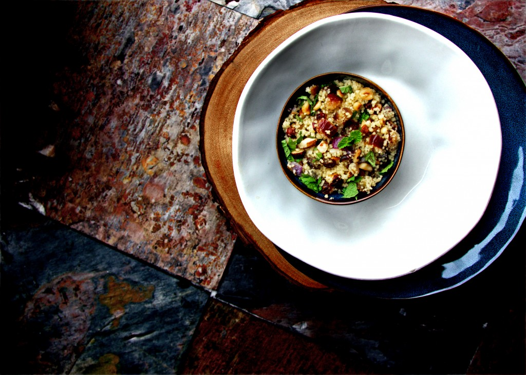 Toasted Hazelnut and Minty CousCous Salad