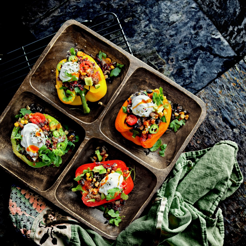 Stuffed and Roasted Barranquilla Bell Peppers