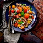 Heirloom Tomato Salad with Brown Rice and Quinoa