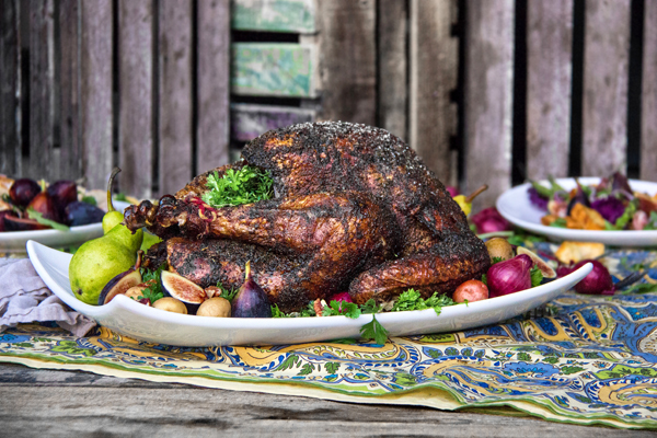 Smoked and Blackened Holiday Heritage Turkey