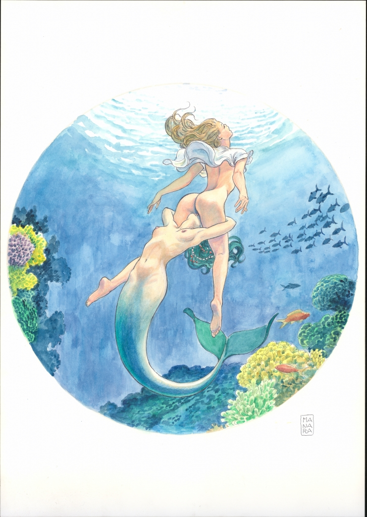 Erotic image on one of the Manara My Love watches from Ulysee Nardin