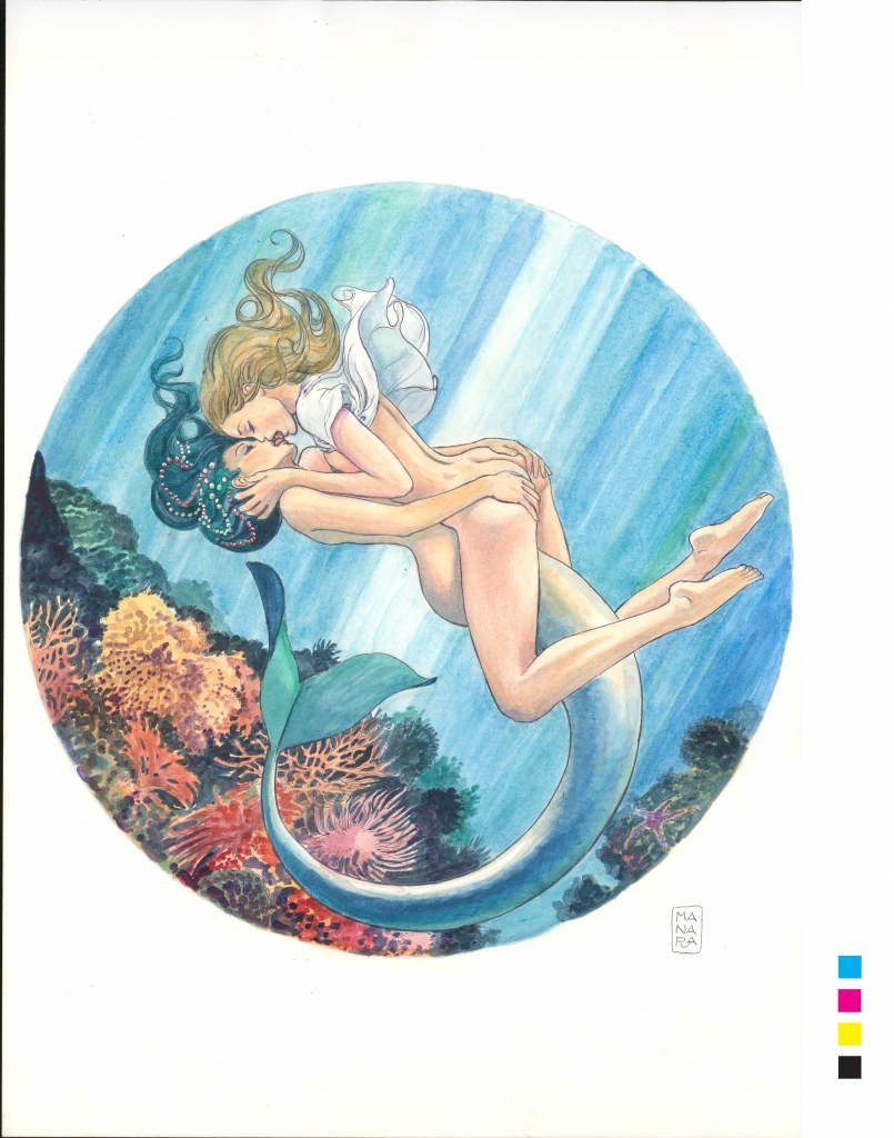 Erotic image from the Manara My Love collection from Ulysse Nardin