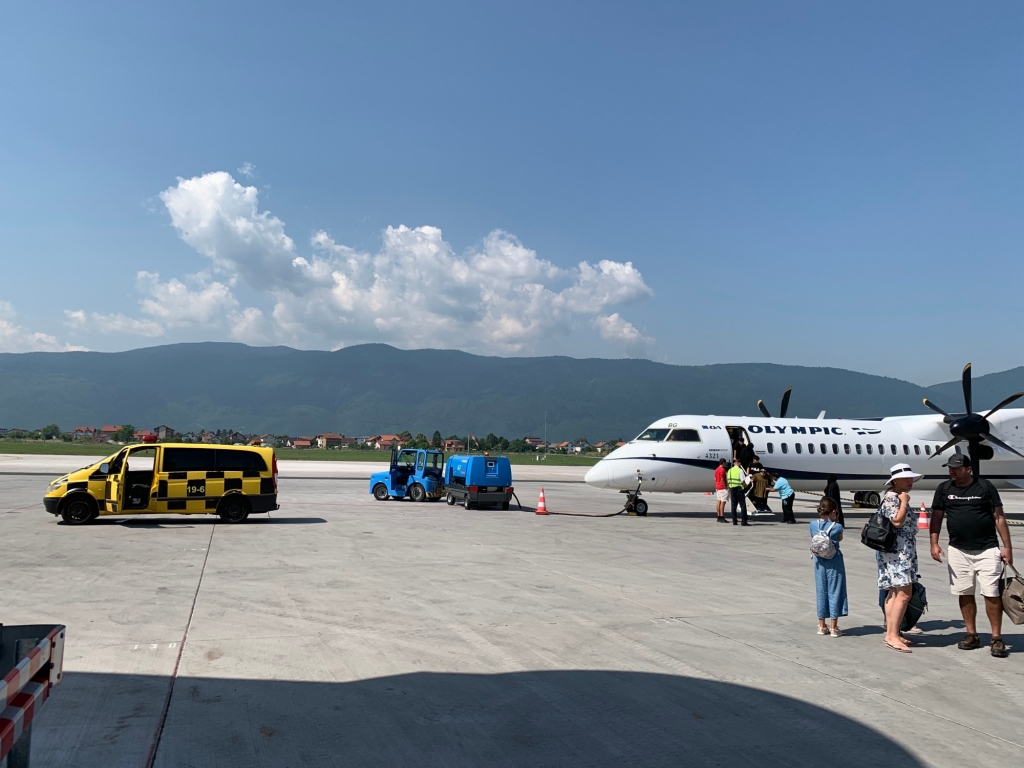 I've landed in Sarajevo!! The countryside is so pretty.