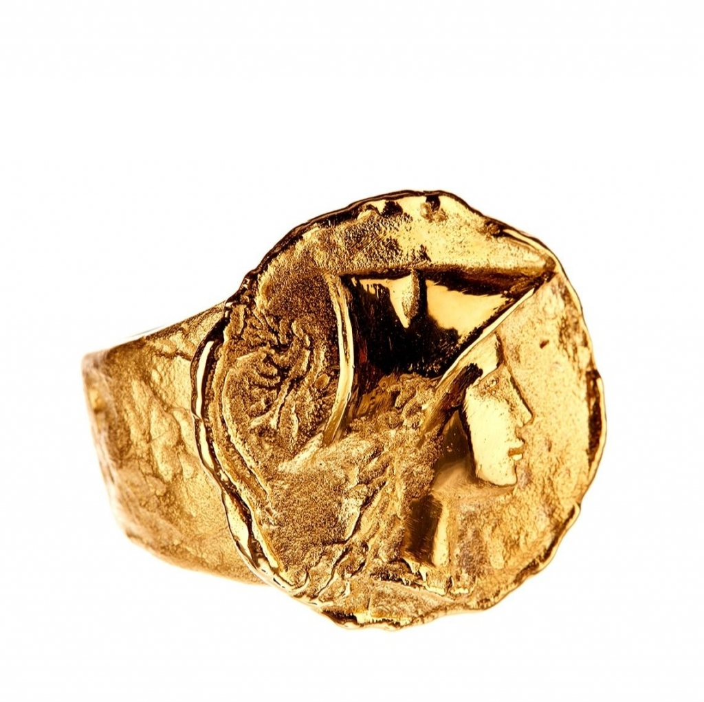 Athena ring in 18k yellow gold, $7,000; email info@andreagutierrezjewelry.com at Andrea Gutierrez Jewelry for purchase