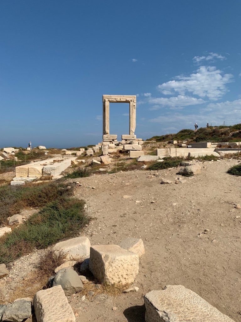 Ruins of the Apollo Temple overlooking the sea on Naxos.